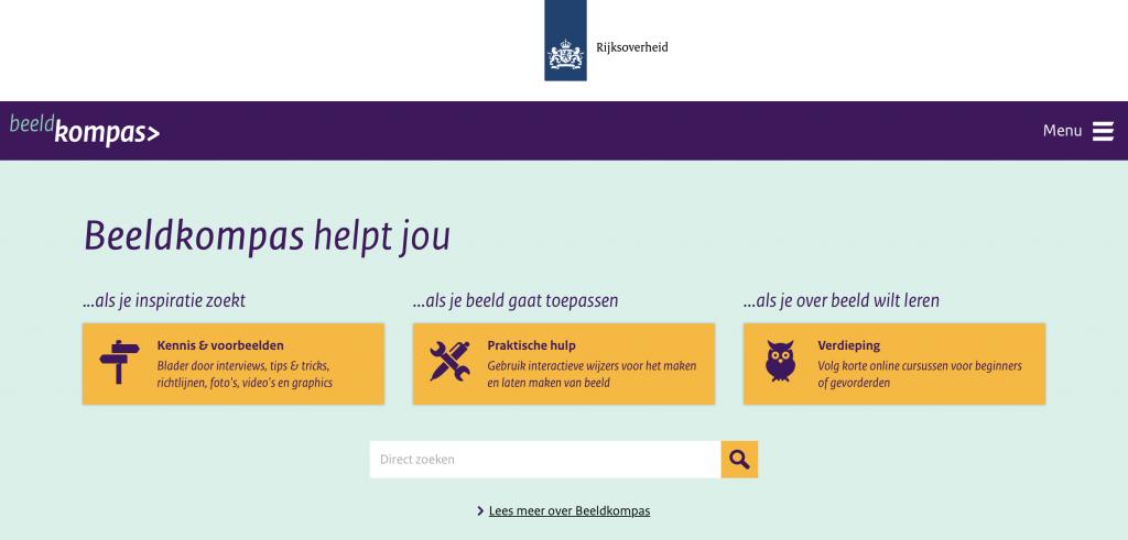 Homepage beeldkompas.nl
