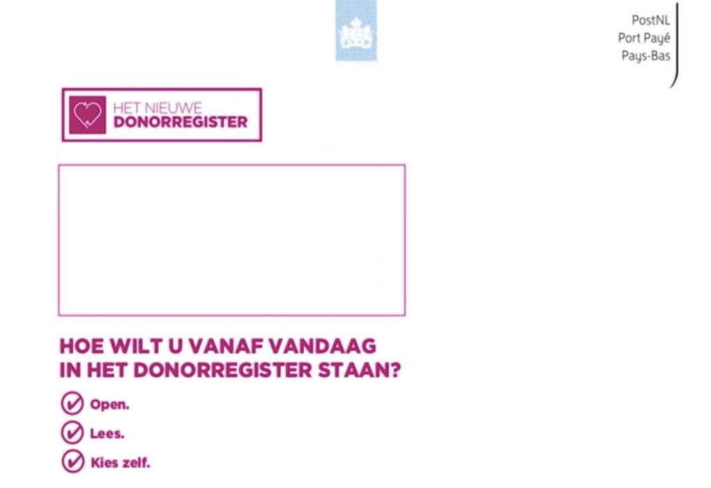 Afbeelding van geteste envelop