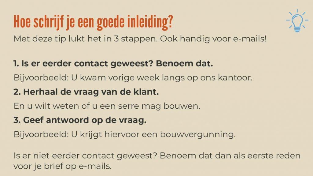 Voorbeeld van een taaltip van gemeente Coevorden